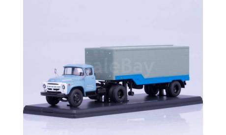 ЗИЛ-130В1 (ранняя облицовка) с полуприцепом ОДАЗ-794, масштабная модель, 1:43, 1/43, Start Scale Models (SSM)
