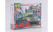 Сборная модель Средний танк T-34-85, сборная модель автомобиля, 1:43, 1/43, Автомобиль в деталях (by SSM)