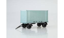 Прицеп ГКБ-8350 с контейнером, масштабная модель, Автоистория (АИСТ), 1:43, 1/43