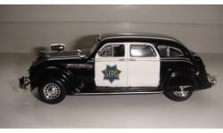 ПОЛИЦЕЙСКИЕ МАШИНЫ МИРА № 42 CHRYSLER AIRFLOW ТОЛЬКО МОСКВА, журнальная серия Полицейские машины мира (DeAgostini), scale43