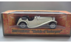 JAGUAR SS 100 1936 MATCHBOX ТОЛЬКО МОСКВА, масштабная модель, 1:43, 1/43