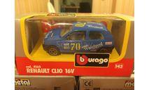 Renault Clio 16V, масштабная модель, BBurago, scale43