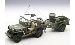 1/18 Autoart 74016 Jeep Willys Джип Виллис с аксессуарами