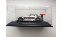1/43 SPARK MERCEDES SLS AMG GT3 Laureus Chrome, масштабная модель, Mercedes-Benz, 1:43