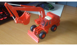 Экскаватор трактор Атэк Атек ЭО 4321 1989 Киев 1:43 Сделано в СССР, масштабная модель трактора, scale43