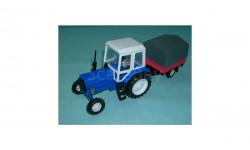 Трактор МТЗ-82 с прицепом (син. т. сер.)