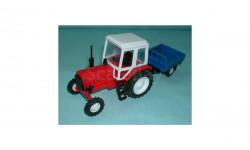 Трактор МТЗ-82 с прицепом (красный)
