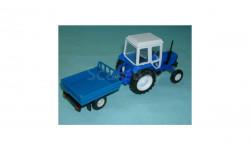Трактор МТЗ-82 с прицепом (синий), масштабная модель, 1:43, 1/43, Компаньон, ГАЗ