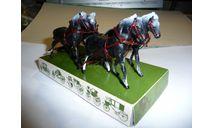 Набор лошадей фирма Brumm 1/43 - Четверка, масштабная модель, 1:43