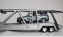 Тягач SCANIA с полуприцепом для перевозки автомобилей 1:43, масштабная модель, 1/43