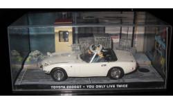 007 ДЖЕЙМС БОНД 1/43 Toyota 2000gt, журнальная серия The James Bond Car Collection (Автомобили Джеймса Бонда), 1:43