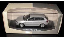 Audi A3 8P Sportback 5 дверный  1:43 Minichamps, масштабная модель, 1/43
