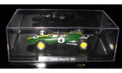 Атлас 1:43 Гран-при Легенды Формула 1 F1 RBA Tyrrell Lotus 25 CLIMAX JIM CLARK GANADOR 1963