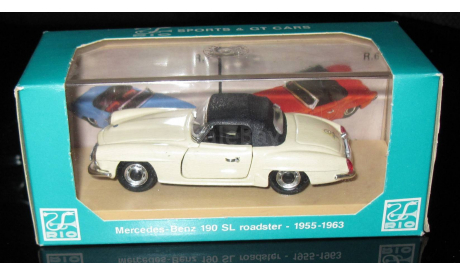 Мерседес Mercedes - Benz 190SL roadster 1955-1963  1/43 Brumm (Италия) , масштабная модель, 1:43, Mercedes-Benz