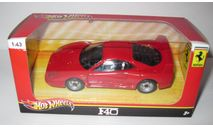 Ferrari F40 Hot Wheels 1:43, масштабная модель, 1/43