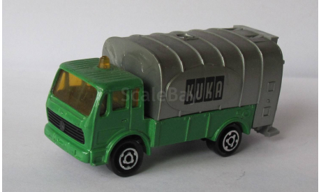 MERCEDES CAMION POUBELLE MAJORETTE (Made in France ), масштабная модель, Mercedes-Benz