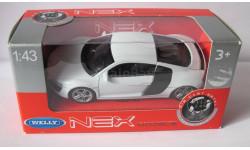 Audi R8 1:43 welly, масштабная модель, 1/43