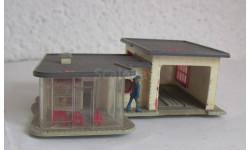Здания и сооружения для макета 1:87 16,5 HO автомастерская с кафе