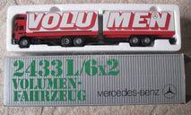 Фура, грузовик Mercedes Benz 2433L 1:43 NZG, масштабная модель, Mercedes-Benz, 1/43