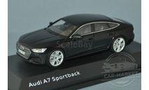 Audi A7 Sportback (myth black), масштабная модель, iScale, scale43