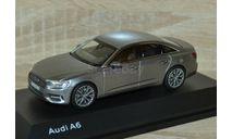 !!! SALE !!! 1:43 Audi A6 C8 Limousine 2018 (Taifun Grey), масштабная модель, iScale, 1/43