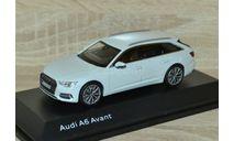 !!! SALE !!! 1:43 Audi A6 Avant 2018 (Glacier White), масштабная модель, iScale, scale43