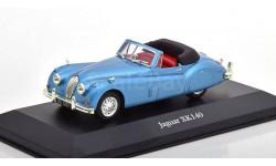 1:43 — Jaguar XK140 (1957), масштабная модель, Atlas, scale43