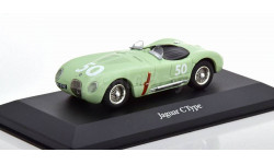 1:43 — Jaguar C-Type No 50 GP Reims 1952 Stirling Moss, масштабная модель, Atlas, scale43