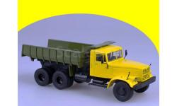 КрАЗ-256Б1 самосвал КРАЗ 256 Б1 Аист желтый-зеленый