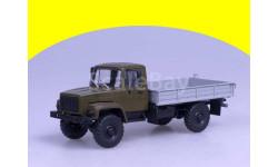 ГАЗ-3308 Горький-3308 4х4 (двигатель ЗМЗ-513) бортовой, (хаки), (светомаскировка на фарах)