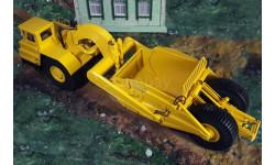 Скрепер Д-392 на базе БелАЗ-531, желтый, Nik-Models (Ник-Моделс), масштабная модель трактора, 1:43, 1/43, Nik Models