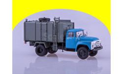 Мусоровоз с боковой загрузкой КО-413 (на шасси ЗИЛ-130), синий/серый, масштабная модель, 1:43, 1/43, Автоистория (АИСТ)