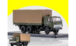 КАМАЗ-53212 бортовой с тентом хаки SSM 1279