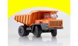 БЕЛАЗ-540А (решётка с 5 поперечинами), оранжевый 10236, масштабная модель, Автоистория (АИСТ), scale43
