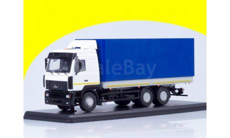 МАЗ-6312, белый/серый/синий, SSM1217, масштабная модель, 1:43, 1/43, Start Scale Models (SSM)