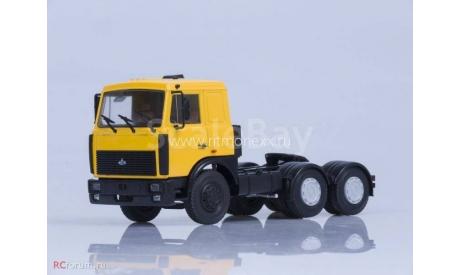 МАЗ-6422 седельный тягач (поздняя кабина, желтый) /откидывающаяся кабина/, масштабная модель, 1:43, 1/43, Автоистория (АИСТ)