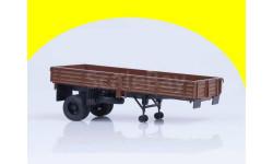Полуприцеп ОДАЗ-885 (коричневый) для КАЗ-608 АИСТ 100749, масштабная модель, 1:43, 1/43, Автоистория (АИСТ)