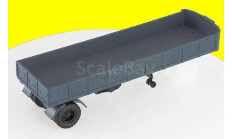 Н864 МАЗ-9380 (1986) полуприцеп (серый), масштабная модель, 1:43, 1/43