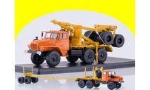 УРАЛ-43204-10 лесовоз с прицепом-роспуском, масштабная модель, 1:43, 1/43
