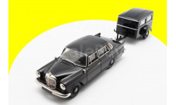 1963 Mercedes Benz 190 C W 110 + Heckflosse Westfalia Bestattungsanhanger Typ 250 G, масштабная модель, 1:43, 1/43, Tin Wizard, Mercedes-Benz