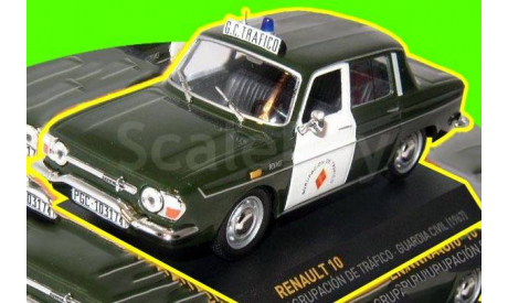 1967 Renault 10 GUARDIA CIVIL TRAFICO  (П), масштабная модель, 1:43, 1/43, IXO Police Collection