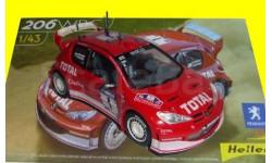 сборная модель Peugeot 206 WRC 2003, Gronholm, 1/43, сборная модель автомобиля, Heller, scale43