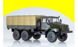 УРАЛ-4322, Уральский грузовик 43223 бортовой с тентом АИСТ, масштабная модель, 1:43, 1/43, Start Scale Models (SSM)