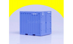 Контейнер 5 т, голубой (62x50x56)  AVD Models  100113, сборная модель автомобиля, 1:43, 1/43, Автомобиль в деталях (by SSM)