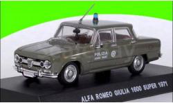 Alfa Romeo Giulia 1600 Super Polizia 1966-1971  (П), масштабная модель, 1:43, 1/43, IXO