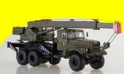 KRAZ-255B1 KS-3575 NVA Автокран КС-3575 (на шасси КРАЗ-255Б1),  хаки