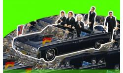 Lincoln Continental Presidential Parade Vehicle X-100 Berlin 1963 J.F.Kennedy/W.Brand/K.Adenauer  (П), масштабная модель, 1:43, 1/43, Minichamps