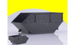 Масштабная модель Бункер накопитель БНУ-8, неокрашенный (черный)