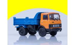 МАЗ-5551 самосвал (ранняя кабина, оранжево-синий), 1988 100497.ос