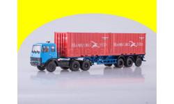 Набор МАЗ-6422 (синий) + полуприцеп МАЗ-938920 Аист 102163,100589